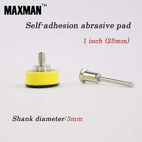 Maslin 1 inch Flocking Sandpaper Self-adhesion Abrasive Pad 3mm Shank Diameter Polishing Abrasive Tools Electric Grinder Accessories - - Amazon.com