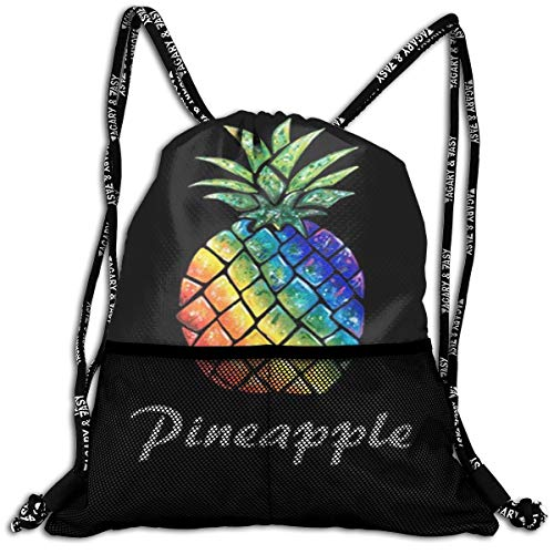 Sport Travel School Beam Backpack Cool Pineapple Colorful Beam Bag Basketball, Volleyball, Baseball Sackpack For Boys Teens Youth Sports & Workout - Bean Volleyball Chair Bag