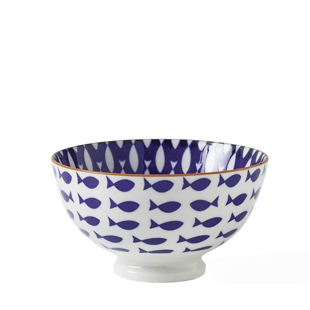 (Black) Torre & Tagus Kiri Porcelain 11cm Small Fish Bowl