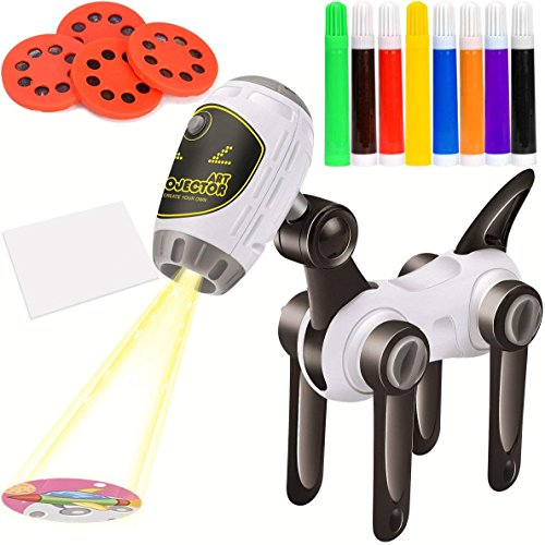 7TECH Trace Draw Projector Educational Learning Toy Projector Painting and Drawing Set Educational Toy for Kids -Machine Dog