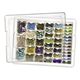 Elizabeth Ward Bead Storage Solutions: 45-Piece Assorted Storage Tray, 42 Containers of Various Sizes with a Tray and Lid for Beads and More (Darice, EWC0510)