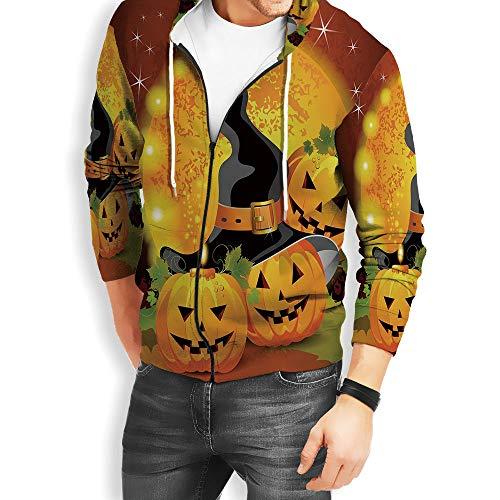 Coaballa Unisex 3D Print Halloween Hoodies for Men Full Zip Plus Size Big and Tall Sweats]()