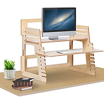 Amazon Com Dual Monitor Standing Desk Converter By Well