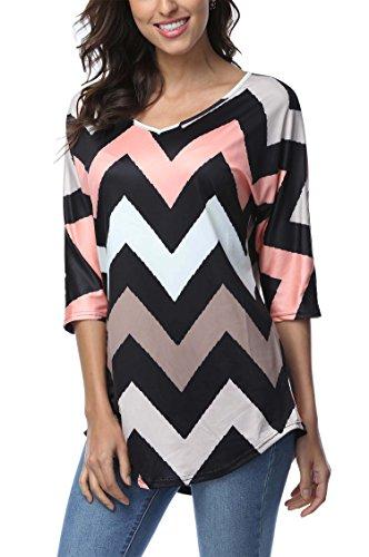 dreagal-womens-wave-striped-zig-zag-v-neck-chevron-print-tunic-shirt-xx-large