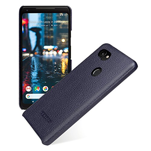 Google Phone Blue Snap - TETDED Premium Leather Case for Google Pixel 2 XL, Snap Cover, Caen (Navy Blue)