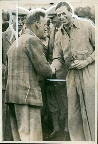 Valuables Caddie - Vintage photo of Prince George,Duke of Kent with the caddie.