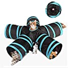 Volwco Cat Tunnel Toy Upgraded 5 Way Large Space Collapsible Pet Play Tunnel Tube Interactive Toy With Storage Bag For Cat Puppy Kitten Rabbit Guinea Pig