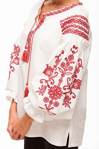 broderie cerise de Jardin femme Chemise de Vyshyvanka de ukrainienne Blouse brode qzTaWp