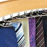 Hangerworld Wooden 24 Tie Hanger Holder Organizer