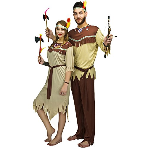 [Adult Native American Costume (One Size, Men)] (Indian Man Costume)