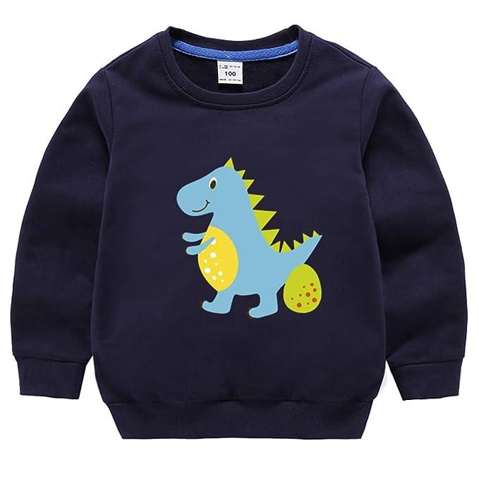 430f656b74a7 JUNMAONO Dinosaurio Sudadera Camiseta Dibujos Animados Puente Ropa ...