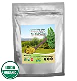 Organic Moringa Pure Green Leaf Powder 8 oz – Holistic Eco-friendly Paleo Energy Booster – All-Natural Gluten-Free in Resealable Bag – Health Boost for Men & Women