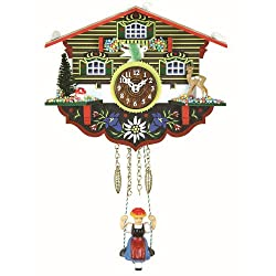 Trenkle Kuckulino Black Forest Clock Swiss House with Quartz Movement and Cuckoo Chime TU 2003 SQ
