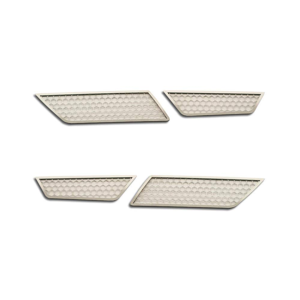 Upgrade Your Auto Polished Back up Light Grilles w//Aluminum Mesh for 2014-19 Chevy Corvette Z06//GS