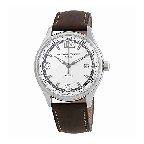 Frederique Constant Men's 'Vintage Rally' Swiss Automatic Stainless Steel and Leather Dress Watch, Color:Dark Grey (Model: FC-303WGH5B6)