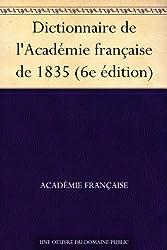 Dictionnaire de l'Académie française de 1835 (6e édition)