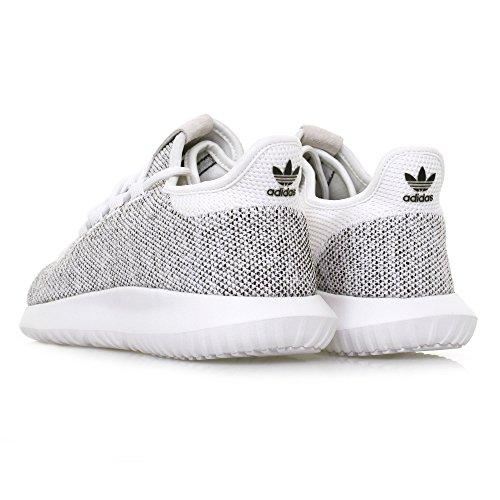 Adidas Originals Mænds Rørformet Skygge Strik Mode Sneaker Hvid / Hvid / Sort 1 1kR63LJj