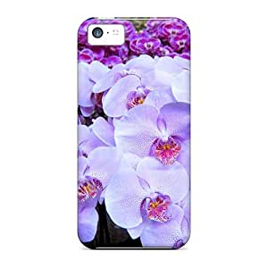 LastMemory Design High Quality Beautiful Orchids Cover Case With Excellent Style For Iphone 5c