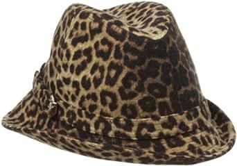 San Diego Hat Company Women's Animal Asymetrical Fedora Hat, Animal, One Size