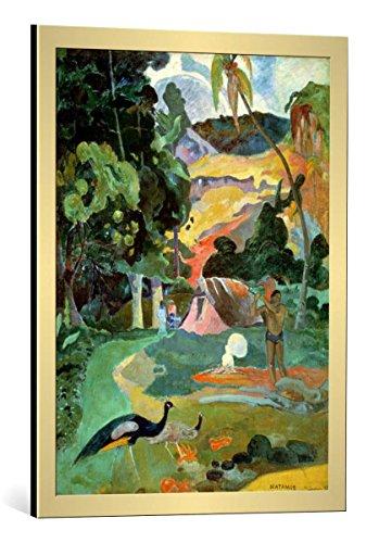 kunst für alle Framed Art Print: Paul Gauguin Matamoe or Landscape with Peacocks 1892