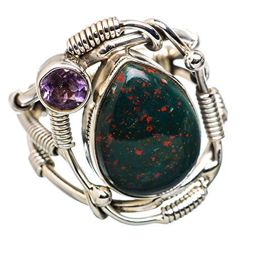 Ana Silver Co Rare Bloodstone, Amethyst 925 Sterling Silver Ring Size 7 RING834080