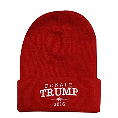 Sk901 Donald Trump Basic Beanie Hat - Red