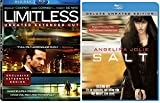 Salt & Limitless (Unrated) [Blu-ray] 2 Pack Sci-Fi Mystery Action Movie Set