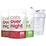 Oats Overnight with BlenderBottle (3oz per pack) High-Protein, Low-Sugar, Gluten-Free (3 Pack Variety with BlenderBottle)
