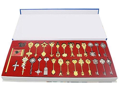 Fairy Tail Key 29 Golden Zodiac Keys Lucy Natsu Happy Prop Accessories