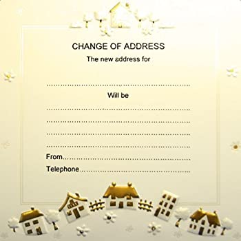 Amazoncom home sweet home change of address greeting for Change of address note cards