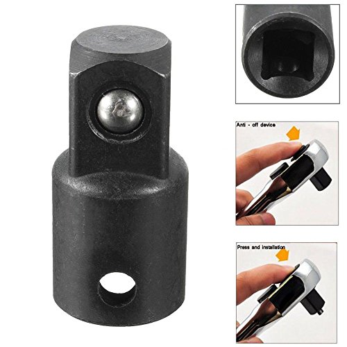 SMTHOME 3/8 to 1/2 inch Drive Socket Reducer Heavy Duty Ratchet Adapter Air Impact - Adapter 0.375 Drive