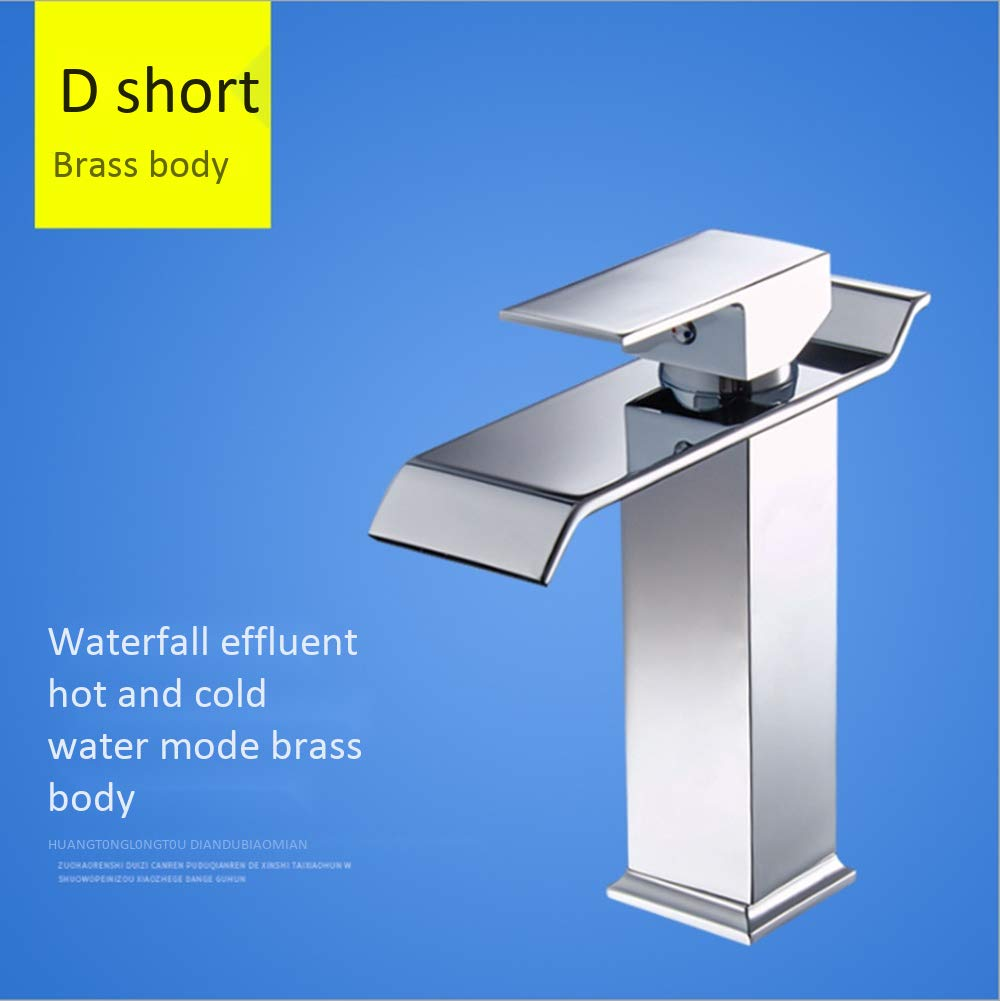 XXXL DDL Modern bathroom sink faucet single handle single hole waterfall sink faucet wash basin hot and cold wide mouth high body faucet,XL