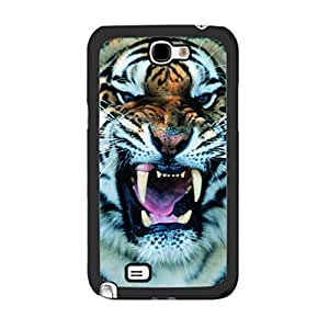 Animal Pictures Print Series Cool Case Cover for Samsung Galaxy Note 2 N7100 Unique Design Personalized Durable Plastic Skin for Boys (tiger)