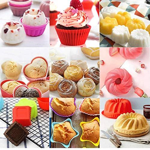Beruna Creative Silica Gel Cake Mold Set DIY Pastry Cake Biscuit Donuts Baking Tools Candy Making Molds