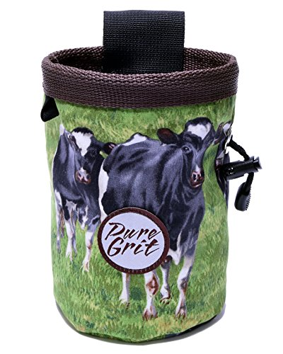 Pure Grit Moo Moo Chalk Bag (USA made) with Belt by Pure Grit
