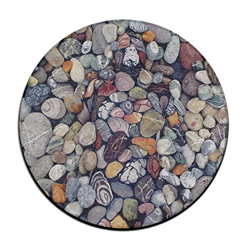 ALLMYHOMEDECOR Colorful Beach Cobblestone Stones Doormat Non Slip Outdoor Entry Carpet Soft Indoor Entrance Rug for High Traffic Areas Home Kitchen Floor Porch Patio Garage