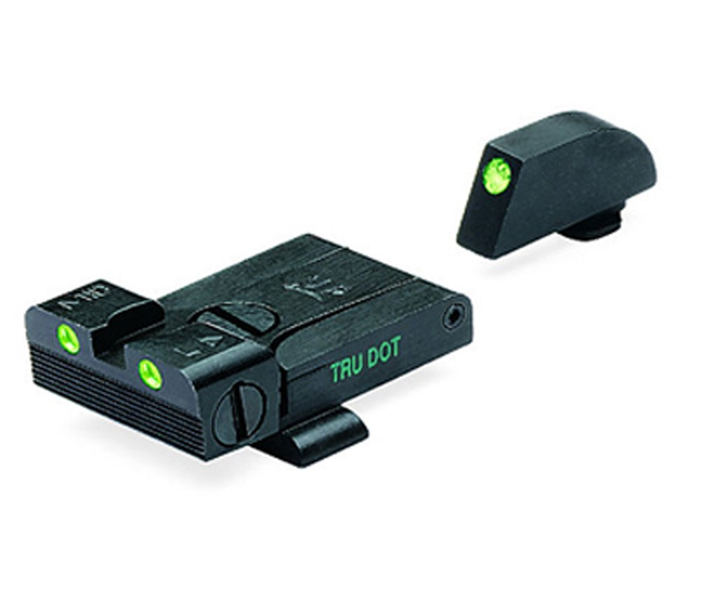 Meprolight Glock Tru-Dot Night Sight fits G17,19,20,21,22,23. Adjustable set with green rear and front sight by Meprolight