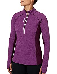 Women's Cold Weather Compression Space Dye Quarter Zip Long Sleeve Shirt