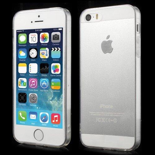 Case Étui Coque Housse pour iPhone SE 5S 5 iMercado (TPU, Crystal Clear)