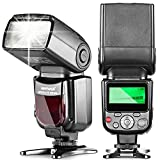 Neewer NW580/VK750 Speedlite Flash with LCD Display for Canon & Nikon Digital DSLR Cameras, such as Canon EOS 5D Mark III , 5D Mark II, 1Ds Mark 6D, 5D, 7D, 60D, 50D, 40D, 30D, 300D, 100D, 350D, 400D, 450D, 500D, 550D, 600D, 650D, 700D, 1000D, 1100D/EOS Digital Rebel, SL1, XT, Xti, Xsi, T1i, T2i, T3i, T4i, T5i, XS, T3; Nikon D4S D4 D3S D800 D700 D80 D90 D7000 D7100 D50 D40X D60 D5000 D5100 D5