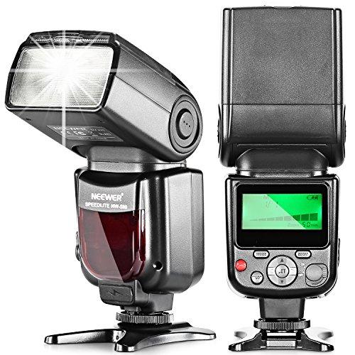 Neewer 手動フラッシュスピードライト LCDディスプレイ付き Canon Nikonなどに対応