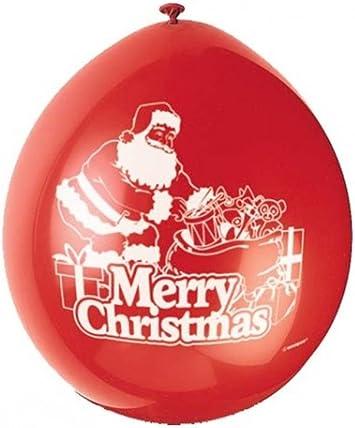 Unique Party - Globos de Látex de Feliz Navidad - 23 cm - Diseño ...