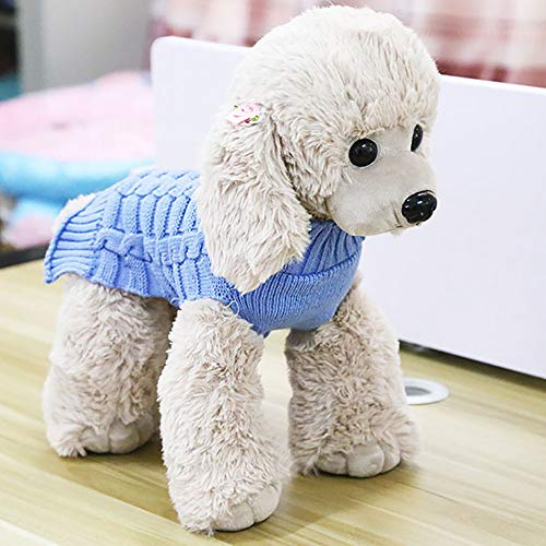 Hpapadks Pet Dog Cashmere Twisted Sweater, Pet Dog Cat Winter Warm Turtleneck Sweater Coat Costume Apparel Small Dog Clothes]()
