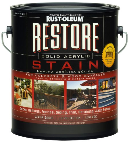 Rust-Oleum 47000 Restore Solid Acrylic Stain with Tint Base, 1-Gallon (Olympic Solid Color Deck Stain)