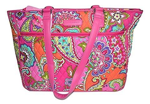 Vera Bradley Work Tote in Pink swirls - Pink Laptop Tote