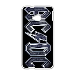 ac dc high voltage HTC One M7 Cell Phone Case White Present pp001-9454814