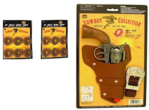 Cowboy Collection Big Tex Cap Pistol and Holster Set for Kids Plus 288 shots -