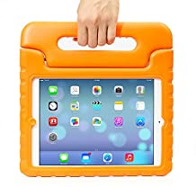 iPad Air 2 Case,iPad Air 2 for kids Case,Grand Sky-Light Weight Shock Proof Convertible Handle Stand Kids Friendly Protection for Apple iPad air2(6th Generation) (ipad air 2, Orange)