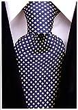 Neckties By Scott Allan - Navy Blue Yellow Diamond Mens Tie