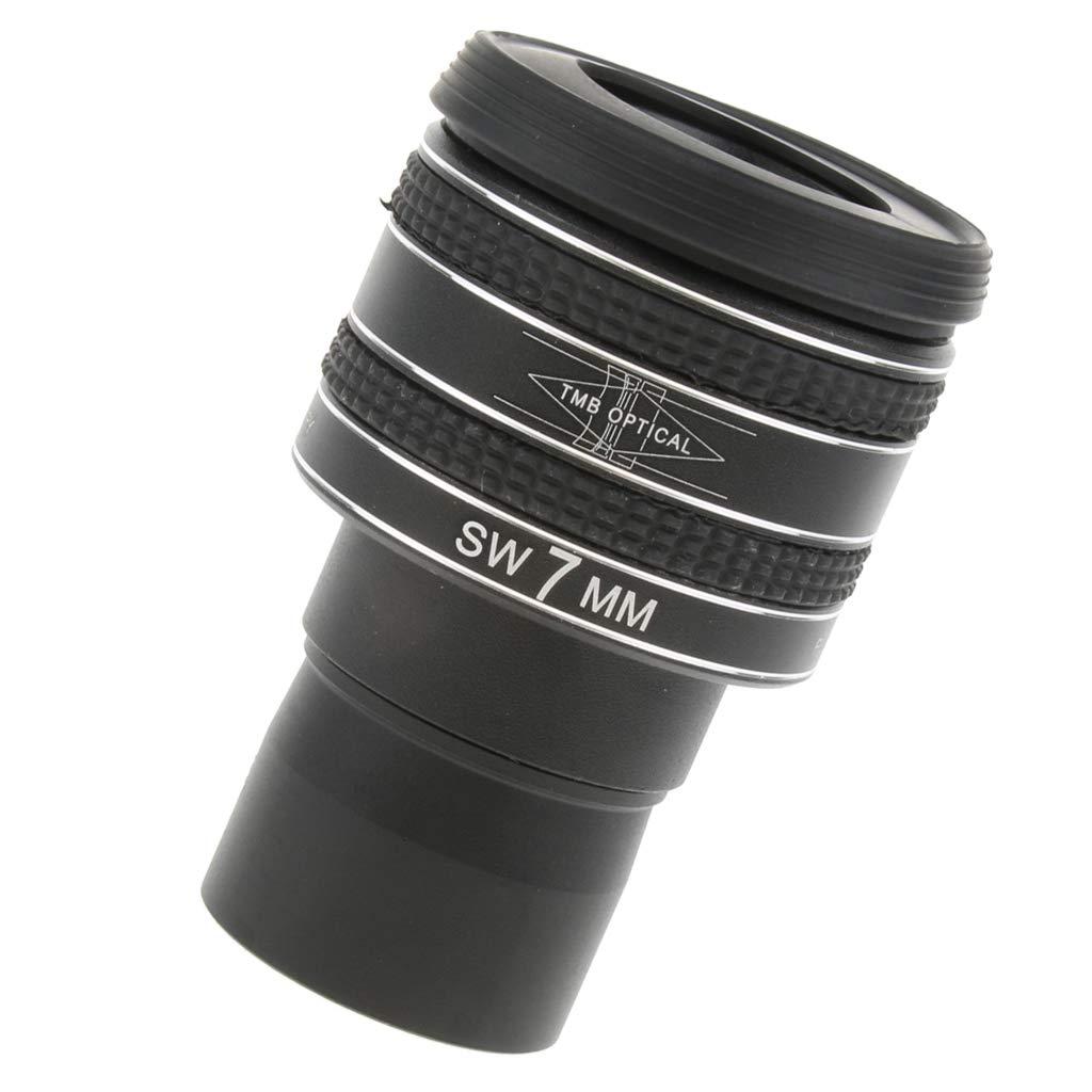 Baoblaze Eyepiece for Telescope Lens 1.25'' 7mm Connect Digital Camera via T Ring Adapter Filter Thread Fully Multicoated 95% Light Transmittance